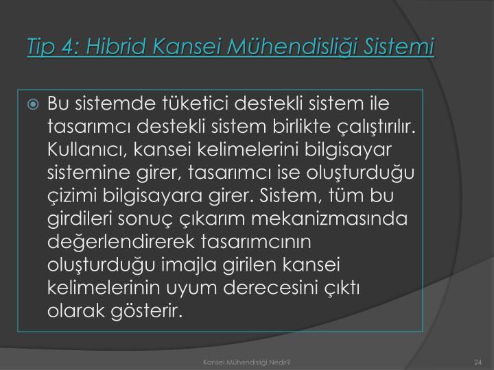 Tip 4: Hibrid Kansei Mühendisliği Sistemi