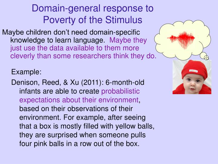 Domain-general response to