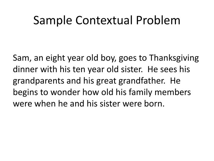 Sample Contextual Problem