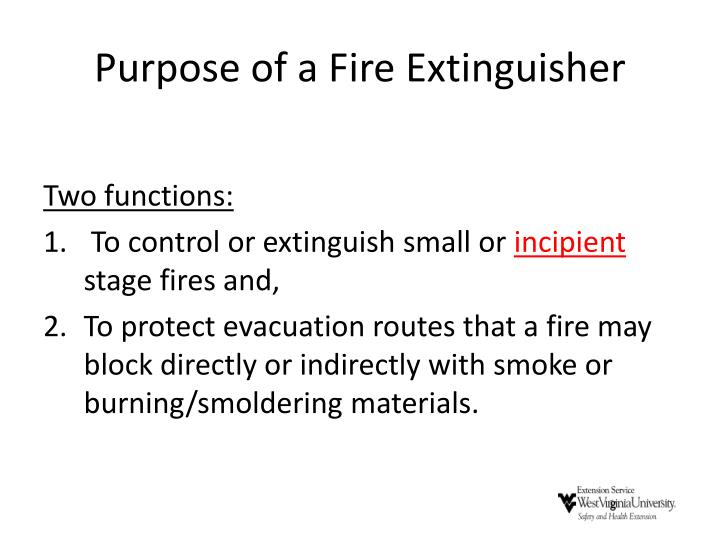Purpose of a Fire Extinguisher