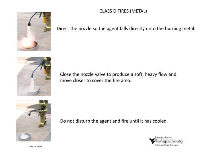 CLASS D FIRES (METAL)