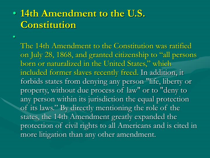 amendments of the u s constitution