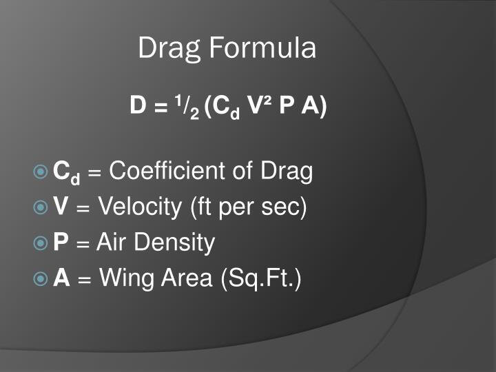 Drag Formula