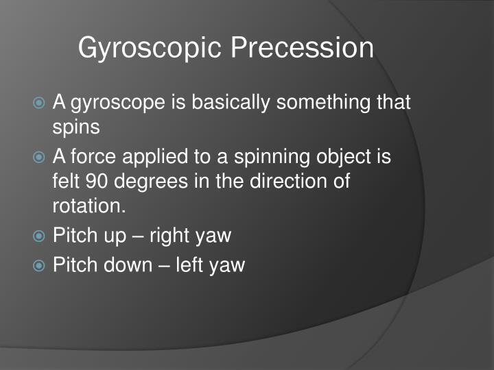 Gyroscopic Precession