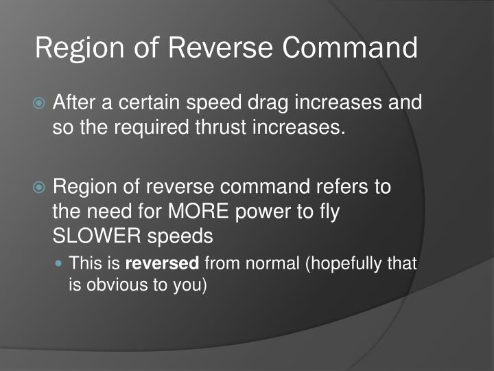 Region of Reverse Command