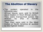the abolition of slavery1