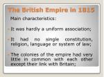 the british empire in 1815