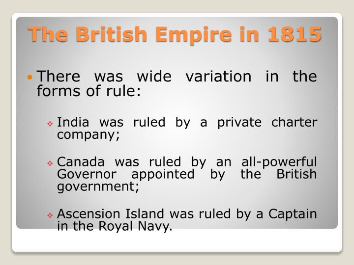The british empire in 18151
