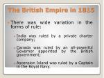 the british empire in 18151