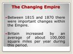 the changing empire