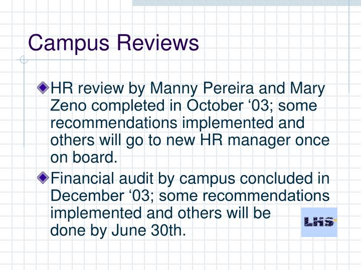 Campus Reviews