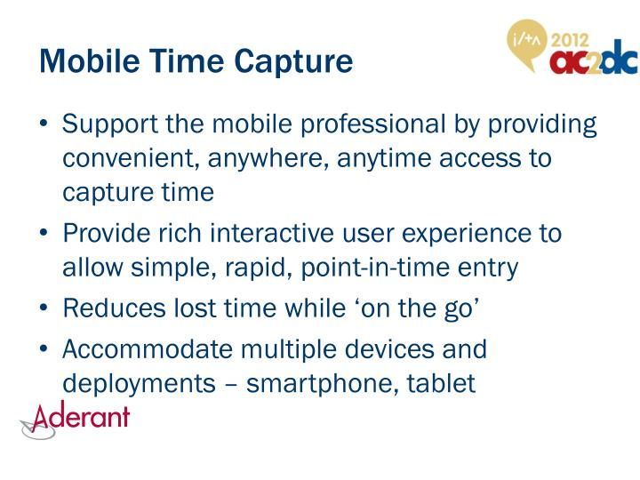 Mobile Time Capture