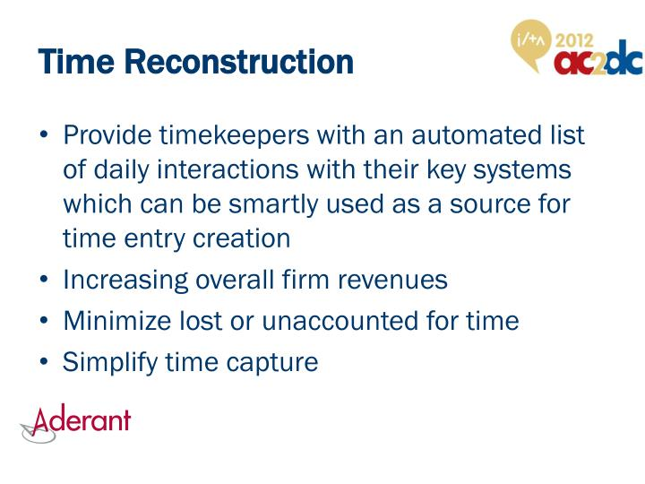 Time Reconstruction