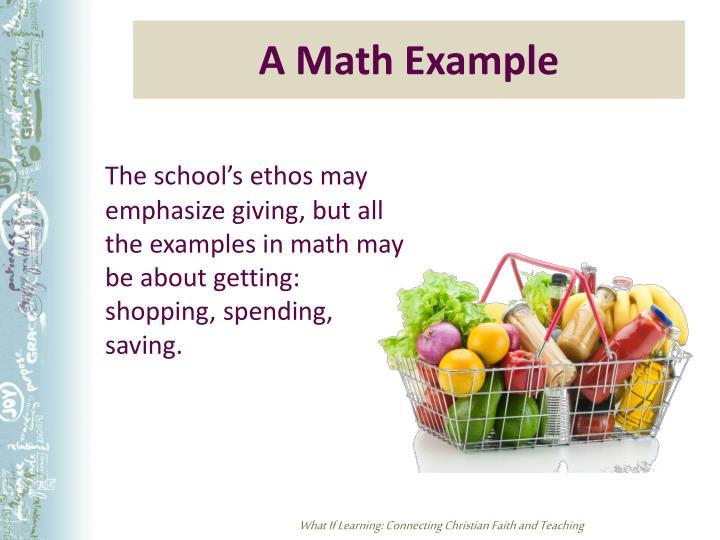 A Math Example