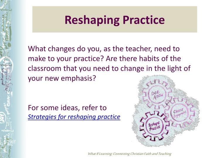 Reshaping Practice