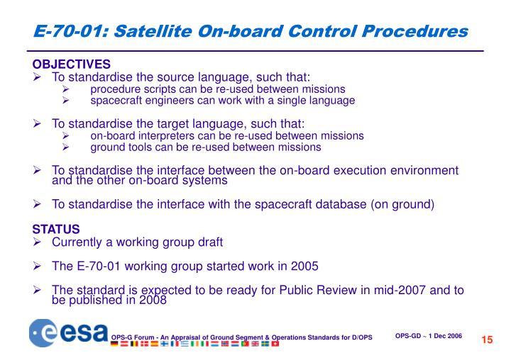 E-70-01: Satellite On-board Control Procedures