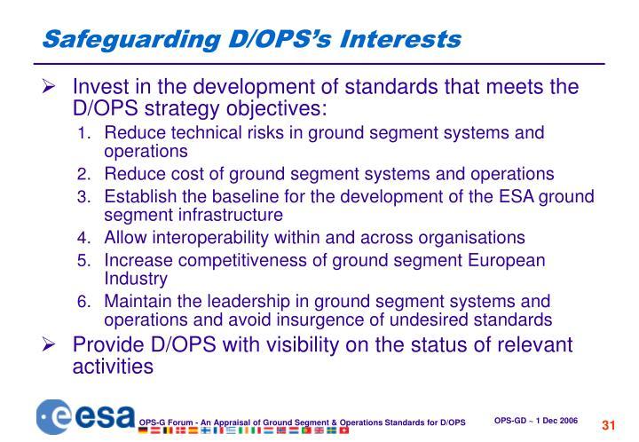 Safeguarding D/OPS's Interests
