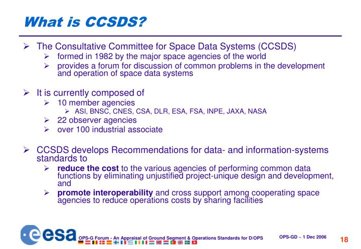 What is CCSDS?