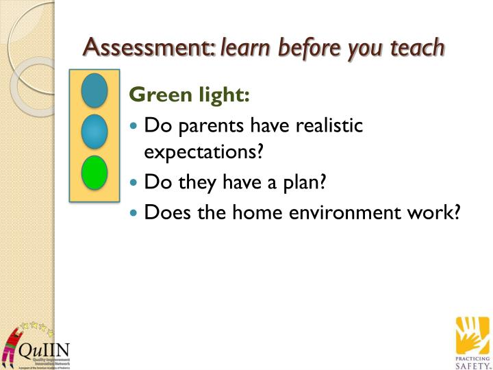Assessment learn before you teach