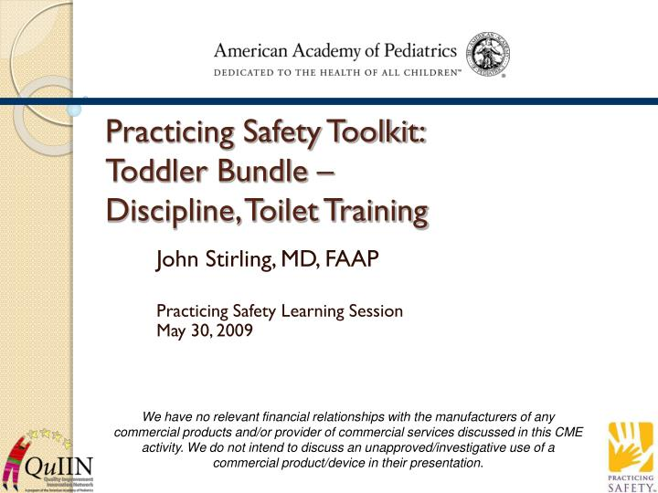 Practicing safety toolkit toddler bundle discipline toilet training