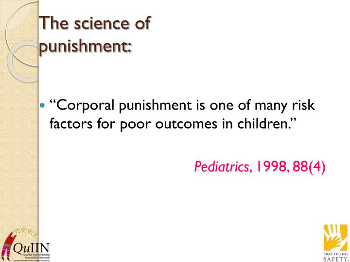 The science of punishment:
