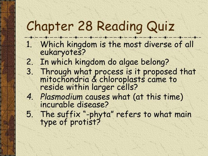 chapter 28 quiz Test your knowledge of the events occurring in chapter 28 of ''to kill a mockingbird'' with this quiz and worksheet combination the practice.