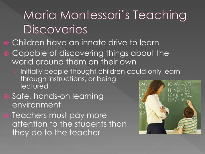 early education and maria montessori essay Maria montessori essay cosmic education – maria montessori believed in cosmic education for maria montessori ece101 early childhood education of today.