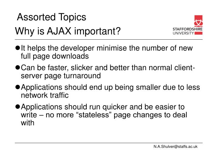 Why is AJAX important?