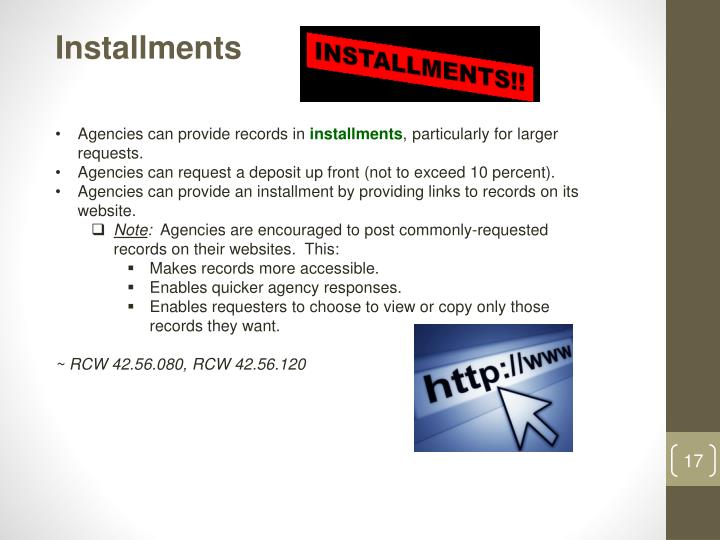Installments