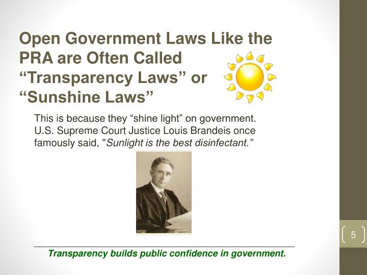 Open Government Laws