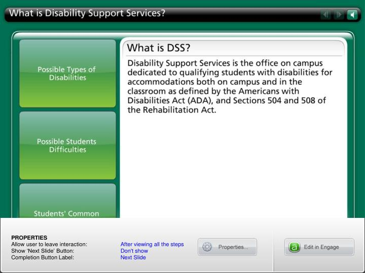 What is Disability Support Services?