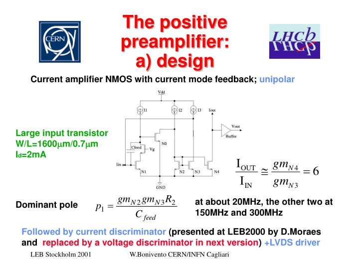 The positive preamplifier: