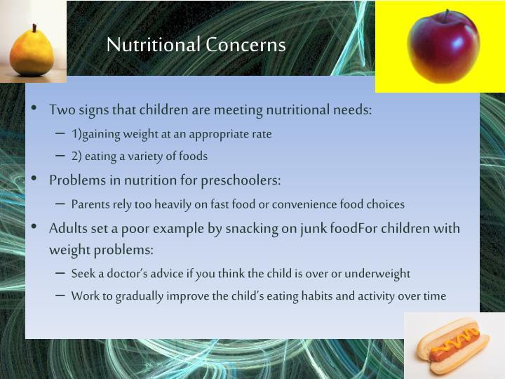 Nutritional Concerns
