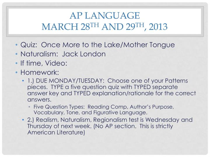 AP Language