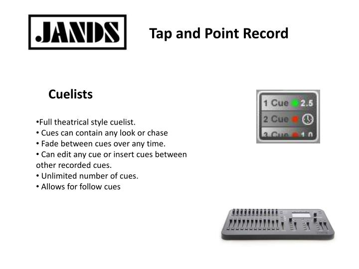 Tap and Point Record