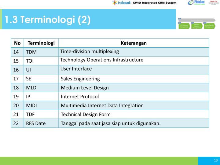1.3 Terminologi (2)