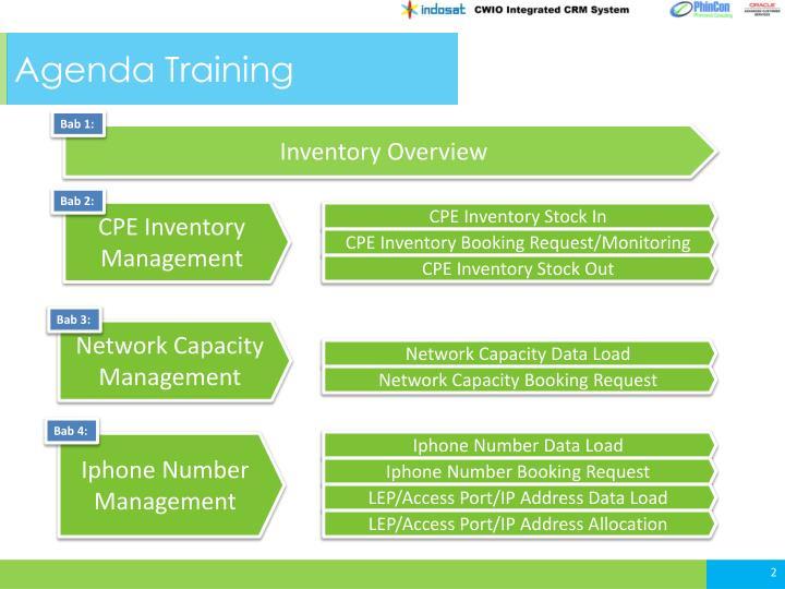 Agenda Training