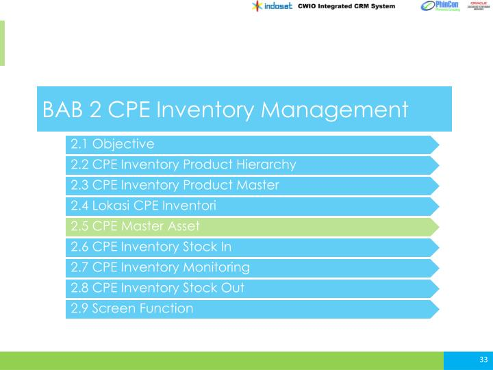 BAB 2 CPE Inventory Management