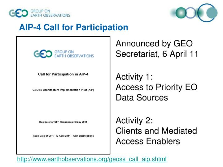 AIP-4 Call for Participation