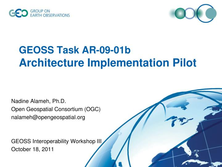 Geoss task ar 09 01b architecture implementation pilot