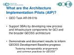 what are the architecture implementation pilots aip