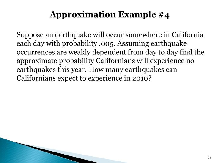 Approximation Example #4