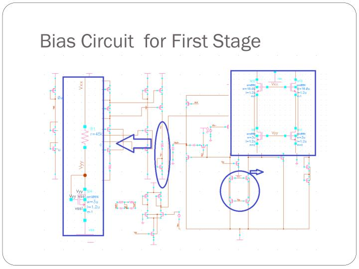 Bias circuit for first stage