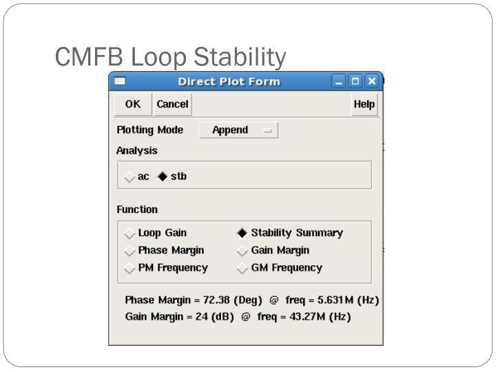 CMFB Loop Stability