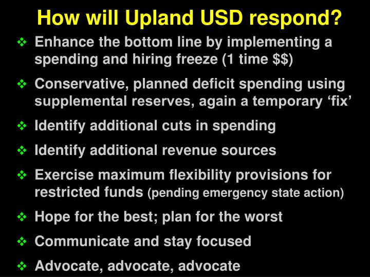 How will Upland USD respond?