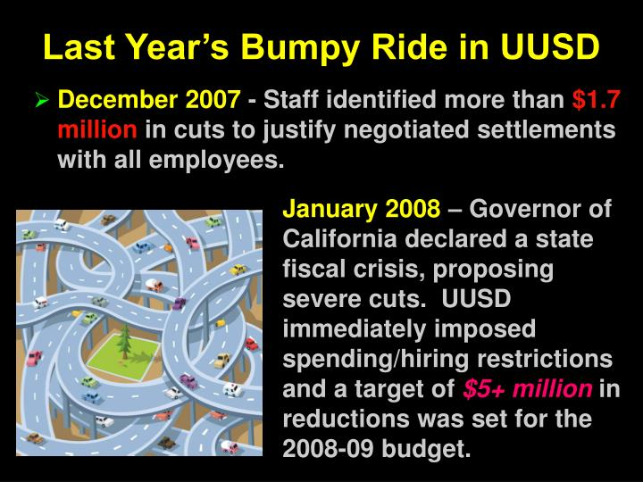 Last Year's Bumpy Ride in UUSD