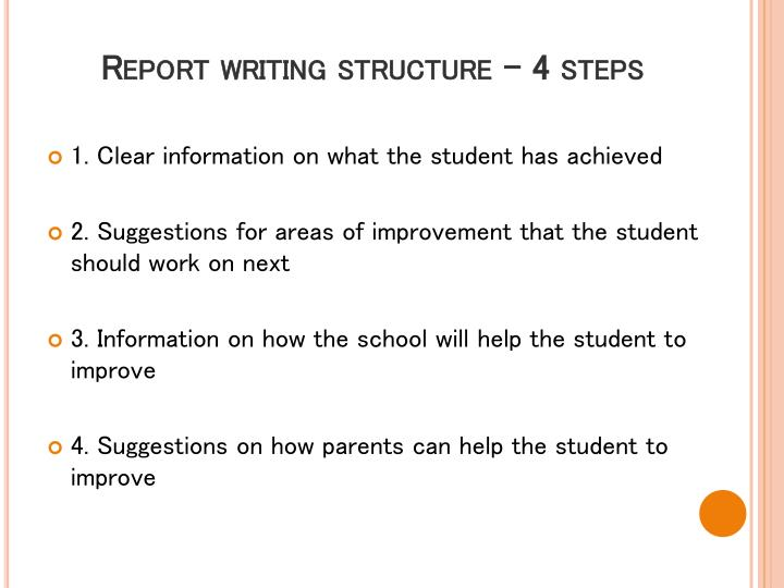 Report writing structure – 4 steps