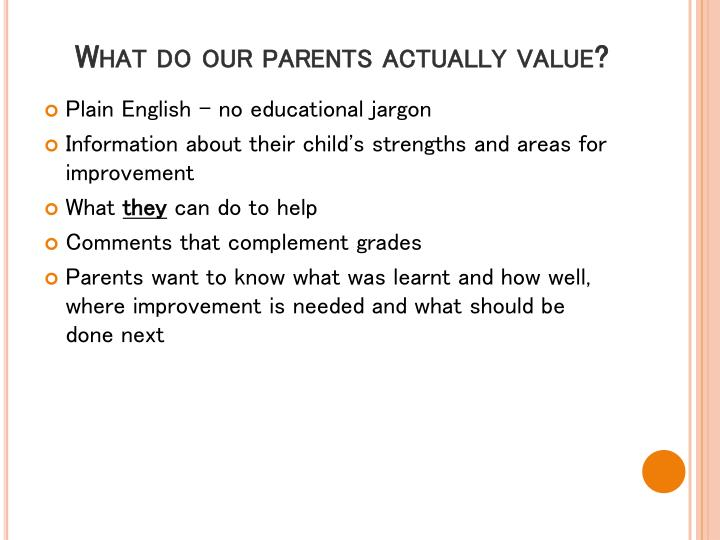 What do our parents actually value?