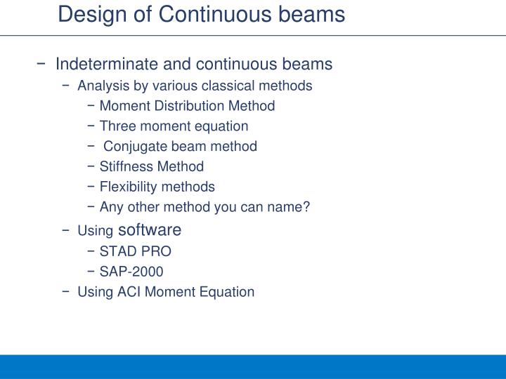 Design of continuous beams