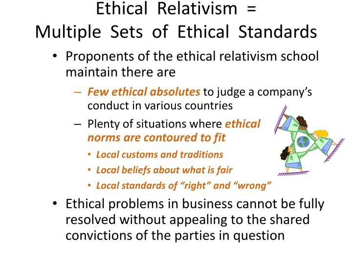 Ethical  Relativism  =